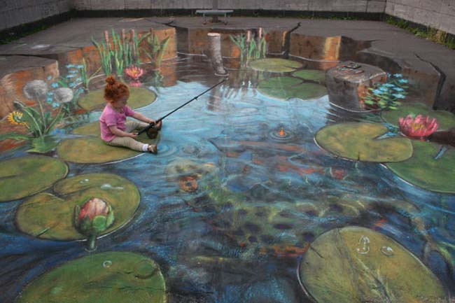 Fishing-pond-sidewalk