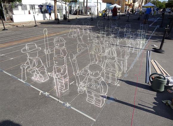 Lego-Army-3d-Chalk-Drawing-Leon-Keer