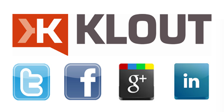 klout twitter facebook linkedin google plus