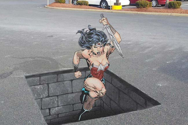 wonder-woman-chalk-art
