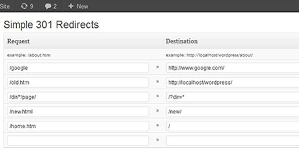 wordpress 301 redirect plugin