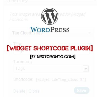 wordpress widget shortcode plugin