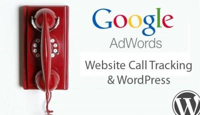 google adwords website call tracking on WordPress