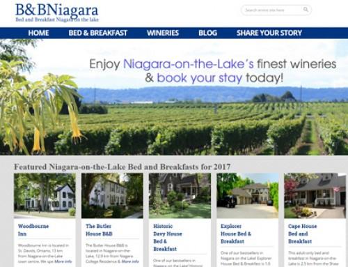 B&B Niagara – New Affiliate Travel Website
