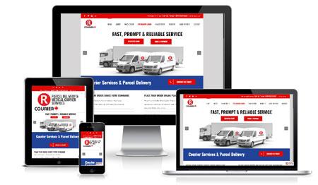 Courier Responsive Web Design Layout