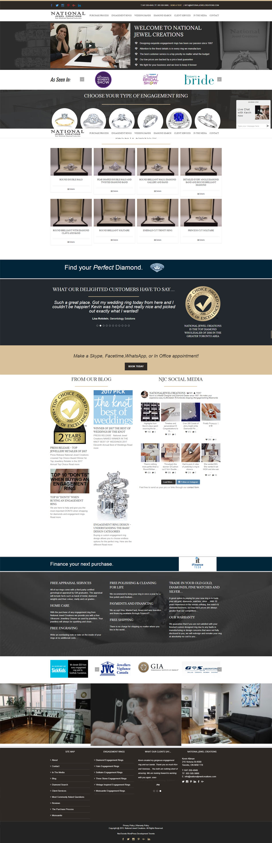 wordpress jeweler website