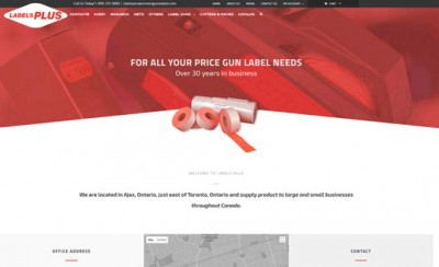 Labels Plus WordPress Website
