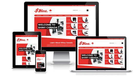 Shiny Canada WordPress Website