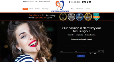 Dentist WordPress Website