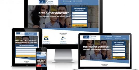 Debt Relief WordPress Website