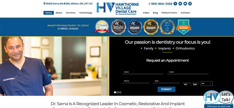 wordpress website for dentist