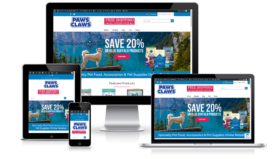 Pet Store WordPress Website