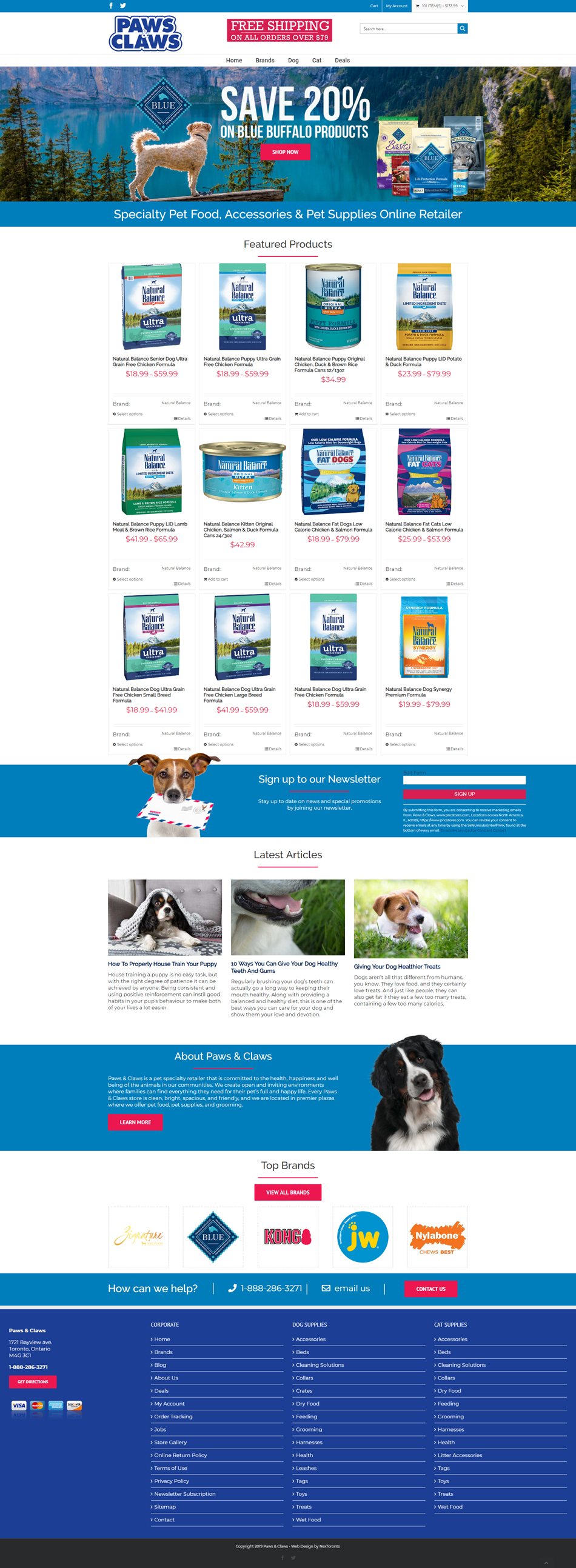 Ecommerce WordPress Pet Store Website