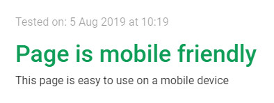 google mobile friendly checker