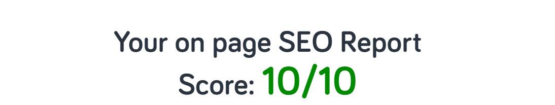 web design seo report