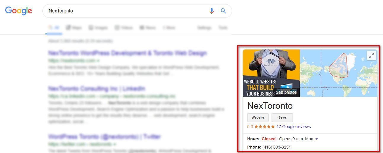 nextoronto google business listing