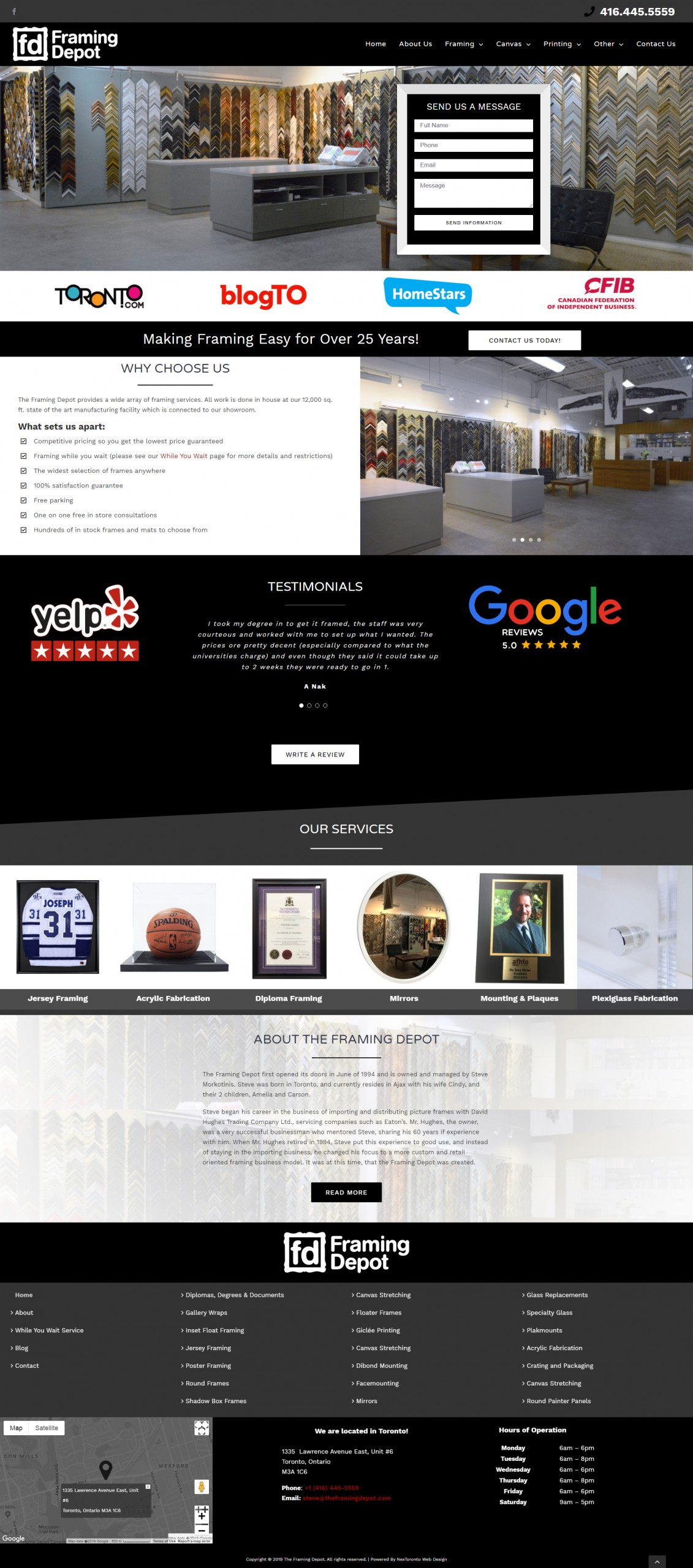 WordPress Web Design for Picture Framing Company
