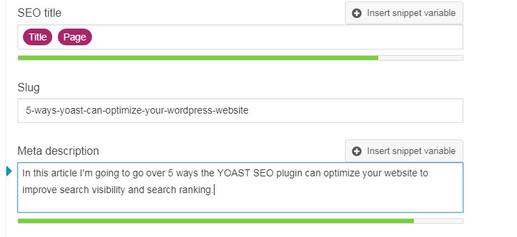 How to set title tag and meta descriptions for a web page