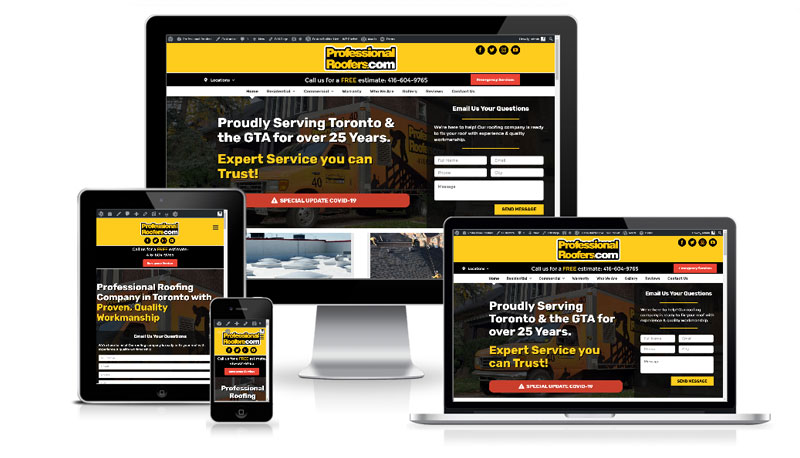 Professional Roofers WordPress Website