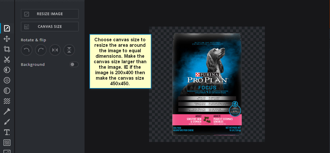Photo editing using online tool Pixelr X