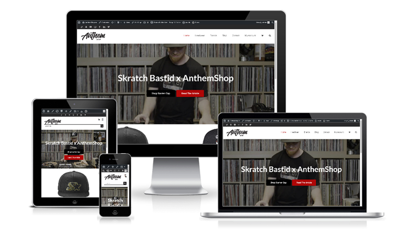 Anthem Shop Sportwear Ecommerce Website